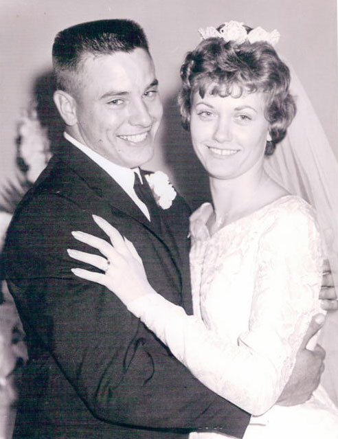 Uncle Cletus and Aunt Gerrie on their wedding day.
