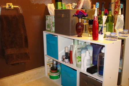 Nice and neat storage for beauty products