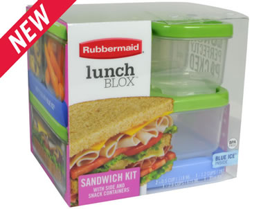 Check out Rubbermaid's new LunchBlox™ Sandwich Kit. (Photo: Rubbermaid website.)