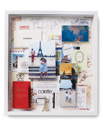 Martha Stewart does it again with this vacation shadowbox. Check out her how-to.